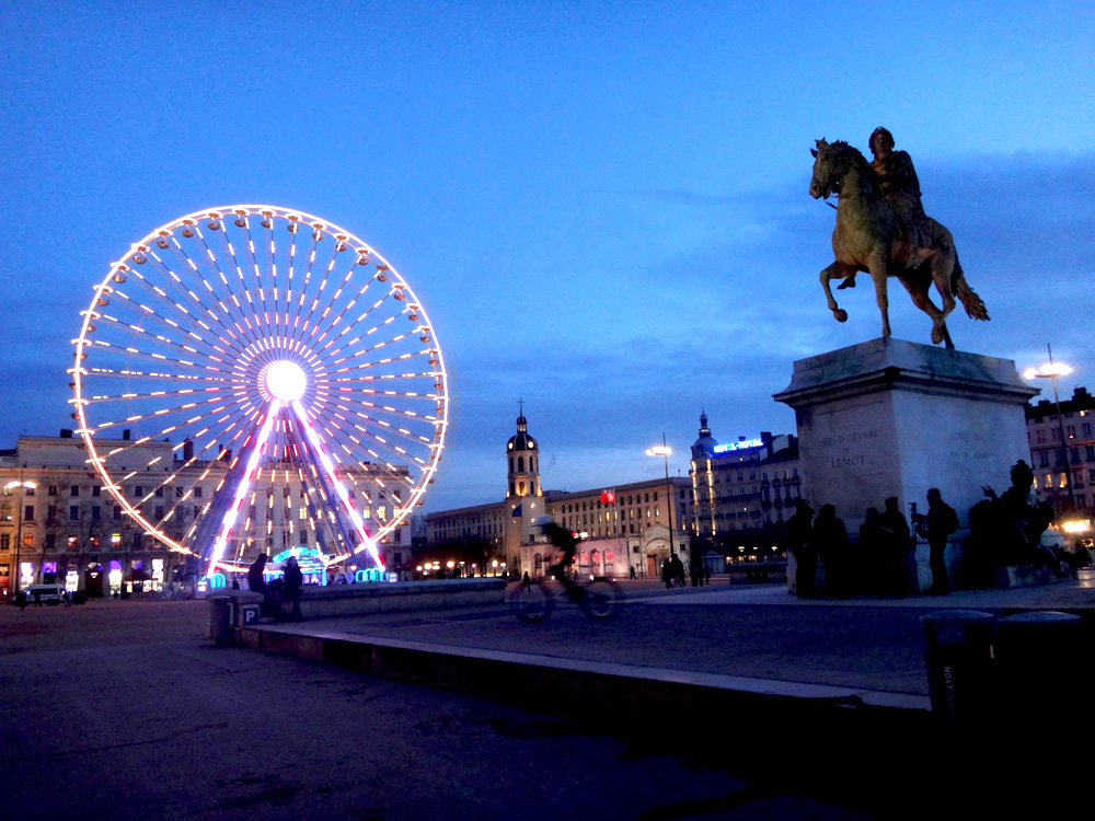 La place Bellecour Lyon France