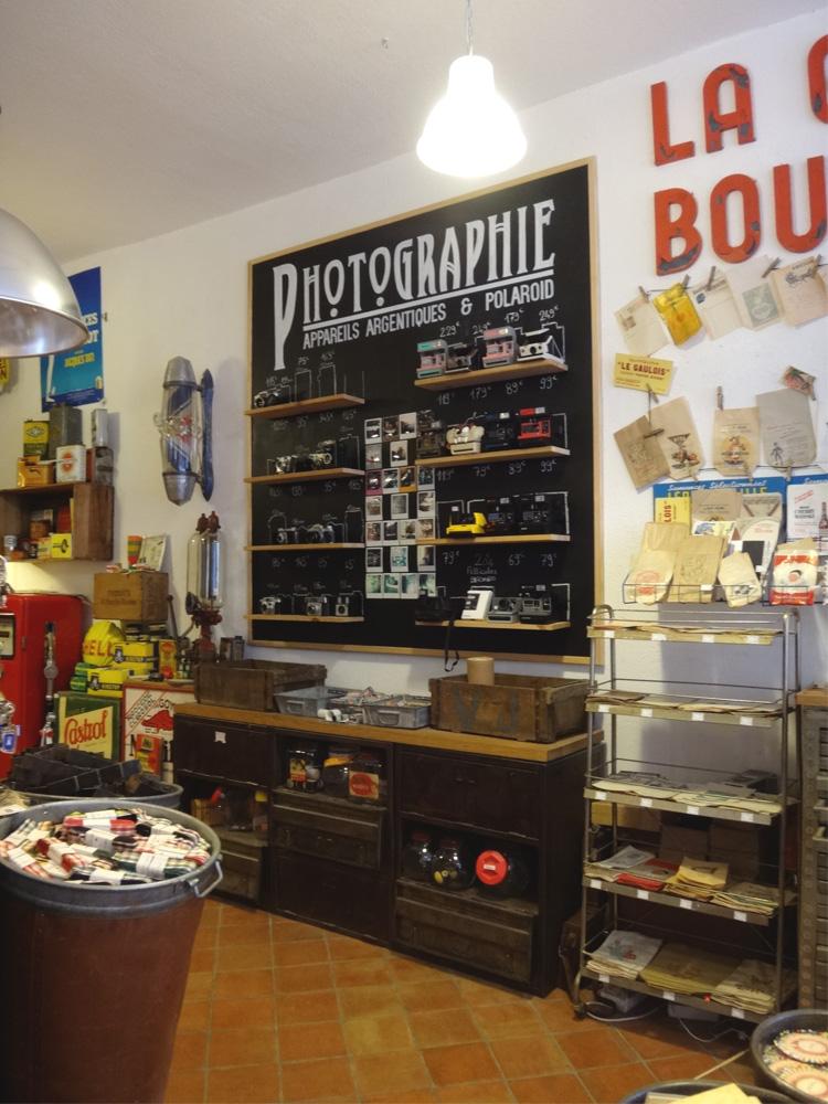 Vintage Store Polaroid Cameras Lyon France