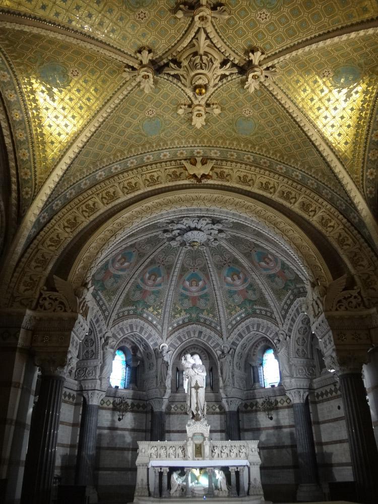 inside the fourvière basilica lyon france
