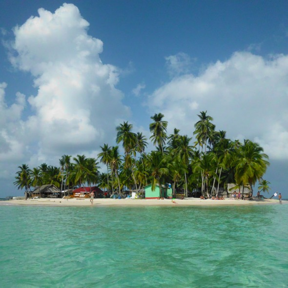 The dreamed island of Franklin at San Blas Panama